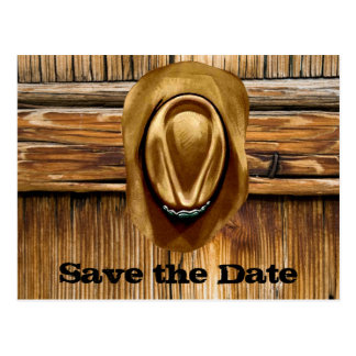 Western Save the Date Wedding Cards Post Card