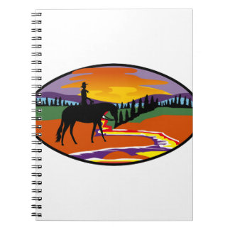 Western Scene Spiral Note Book