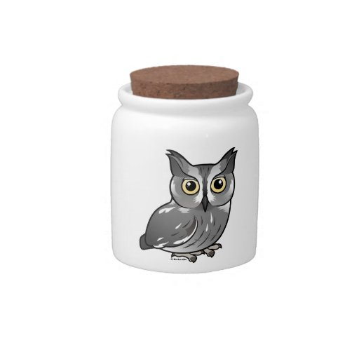 Western Screech Owl Candy Dish
