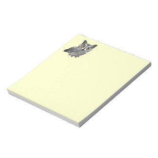 Western Screech Owl Memo Note Pads