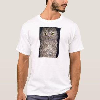 Western screech owl, Otus kennicottii, California, T-Shirt