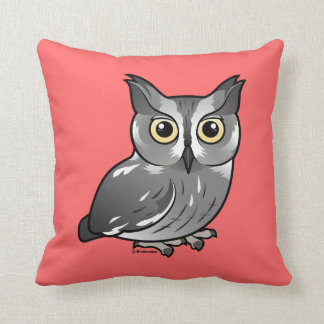Western Screech Owl Throw Pillow