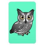 Western Screech Owl Vinyl Magnets