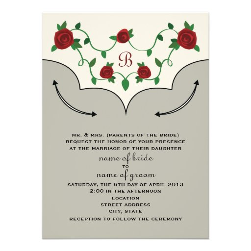 "Western Shirt Wedding Invite (Bride's Parents) 5.5"" X 7.5"