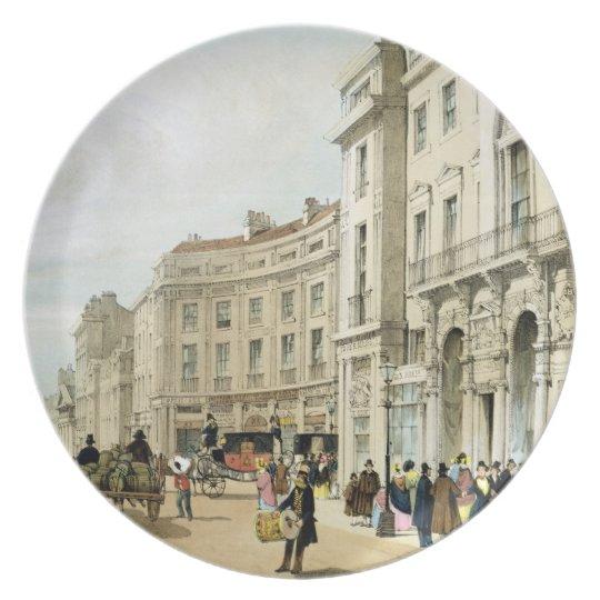 Western side of John Nash's extended Regent Circus Melamine Plate