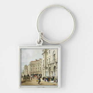 Western side of John Nash's extended Regent Circus Silver-Colored Square Keychain