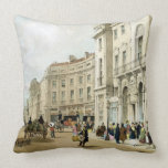 Western side of John Nash's extended Regent Circus Throw Pillow