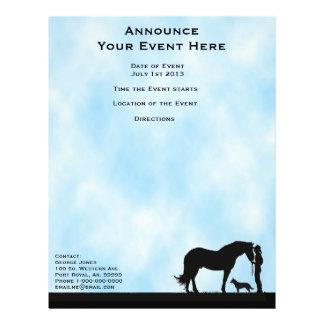 "Western Silhouette & Cattle Dog 8.5"" x 11"" flyer"