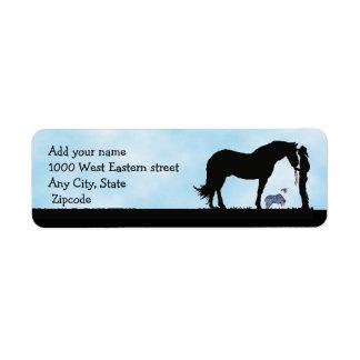 Western Silhouette Return Address Label
