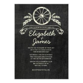 Western Slate Wedding Invitations Custom Invitation