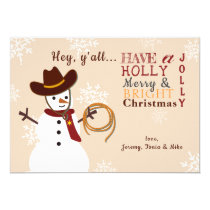 Western Snowman Holiday Card