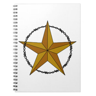 WESTERN STAR AND BARBED WIRE SPIRAL NOTEBOOKS