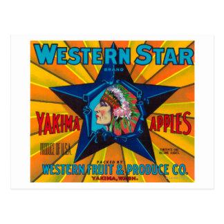 Western Star Apple Label - Yakima, WA Postcard