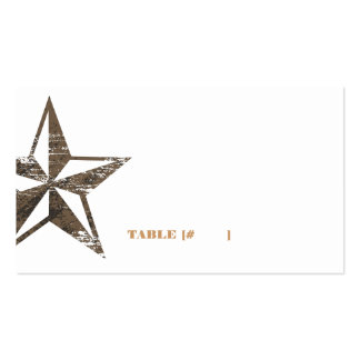 Western Star Escort Card