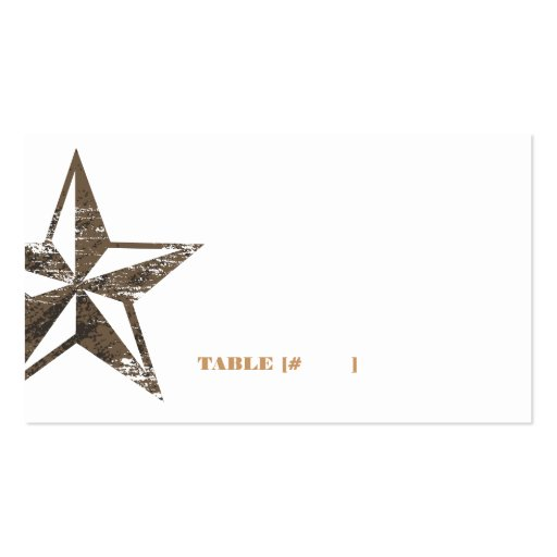 Western Star Escort Card Business Cards