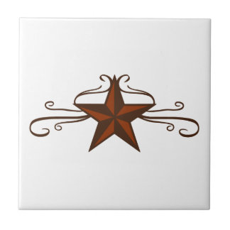 WESTERN STAR SCROLL TILE
