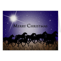 WESTERN STARRY NIGHT FOR HORSES - CHRISTMAS CARD