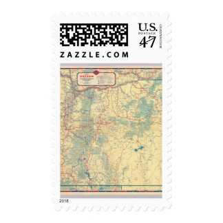 Western States road map Postage Stamp