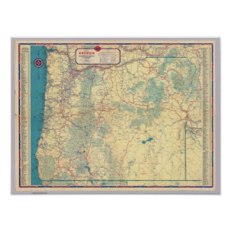 Western States road map Poster