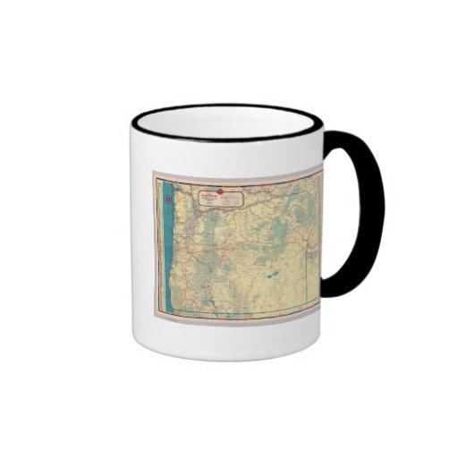 Western States road map Ringer Coffee Mug