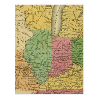 Western states, territories postcard