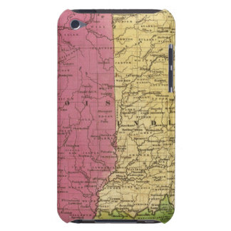 Western States with inset map of Upper Michigan iPod Touch Cases