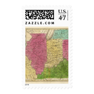 Western States with inset map of Upper Michigan Stamp