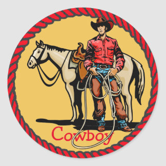 Western Stickers Rodeo Cowboy With Horse