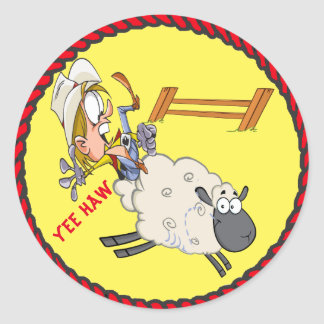 Western Stickers Rodeo Kid Mutton Busting
