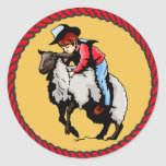Western Stickers Rodeo Mutton Busting