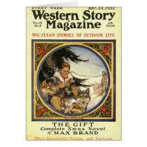 Western Story 1921 Christmas magazine Card