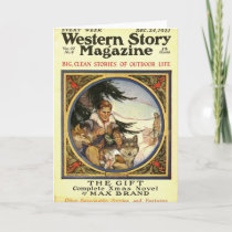 Western Story 1921 Christmas magazine Holiday Card