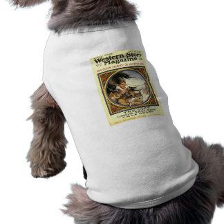 Western Story 1921 magazine cover doggie shirt