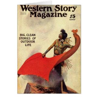 Western Story 1924 smoke signals Greeting Card