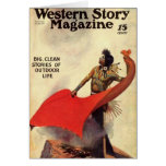 Western Story 1924 smoke signals Cards