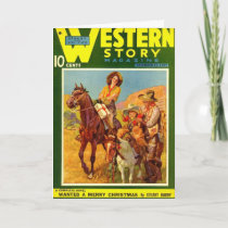 Western Story 1937 Christmas magazine cover Holiday Card