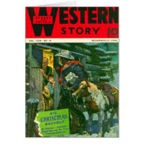Western Story 1941 Christmas magazine cover Card