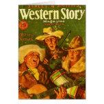 Western Story Magazine 1931 Christmas Greeting Card