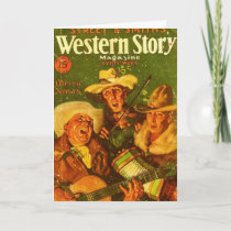 Western Story Magazine 1931 Christmas Holiday Card