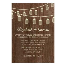 Western String of Lights Wedding Invitations Invitations