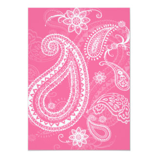 Western Style Bandanna Party Invitation (Pink)