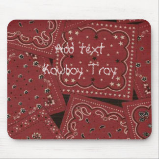 Western Style Barn Red Bandana Collage Mousepad