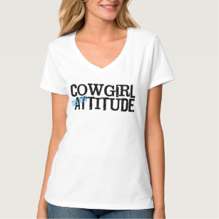 632ebf069 Cowboy Attitude T-Shirts - T-Shirt Design & Printing   Zazzle