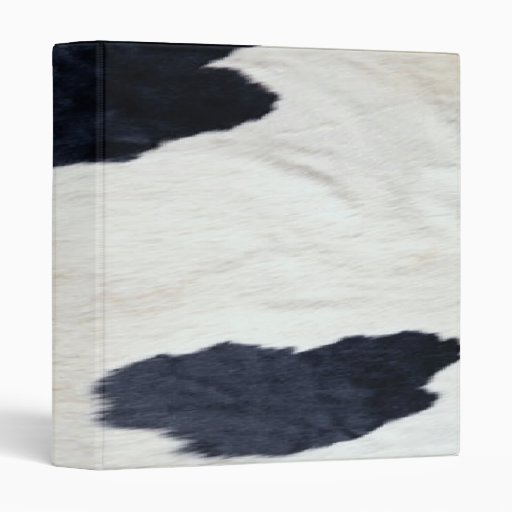 Western Style Cowhide Print ~ Avery Binder 1 Touch