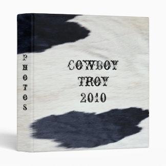 Western Style Cowhide Print Design ~ Avery Binder