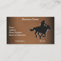 Western-style Galloping Horse and Cowboy Business Card