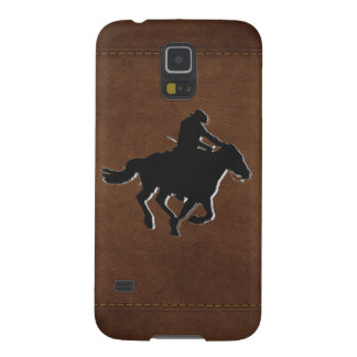 Western-style Galloping Horse and Cowboy Cases For Galaxy S5