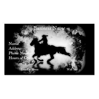 Western-style Galloping Horse and Rider Double-Sided Standard Business Cards (Pack Of 100)