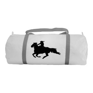 Western-style Galloping Horse and Rider Gym Duffel Bag