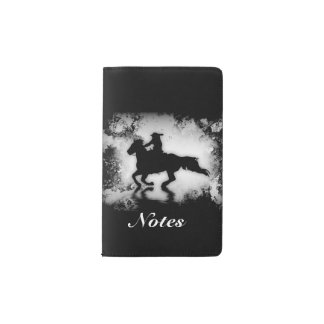 Western-style Galloping Horse and Rider Pocket Moleskine Notebook